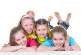 Jóvenes de la escuela de niñas — Foto de Stock
