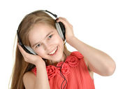 Charismatic girl singing — Stock Photo