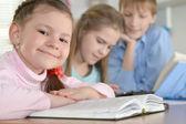 Kids doing homework together — Stock Photo