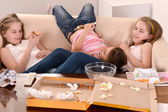 Cheerful girls relaxing — Stock Photo