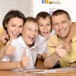 Family drawing together — Stock Photo #30858731