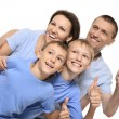 Cheerful family of four — Stock Photo #30858795