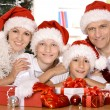 Family celebrating New Year — Stock Photo #30858965