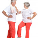 Senior couple with a ball — Stock Photo