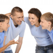 Family discussing — Stock Photo #30859623
