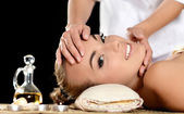 Facial massage in a spa — Stock Photo