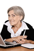 Happy senior businesswoman — Stock Photo