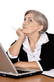 Thoughtful senior businesswoman — Stockfoto
