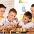 Family at the chess — Stock Photo #30860031