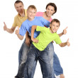 Cheerful family of four — Stock Photo #30860069