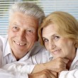 Stock Photo: Charming old people at resort