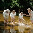 Stock Photo: Superb family went to river