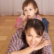 little girl with mom — Stock Photo