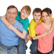 Fun family having fun — Stock Photo