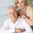 Stock Photo: Nice old people at resort