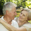 Tender elderly couple  — Stock Photo