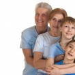 Playful family having a good leisure time — Stock Photo #30999325
