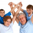 Good-looking family having good leisure time — Stockfoto #30999727