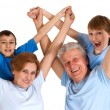 Good-looking family having good leisure time — Stock Photo #30999727