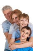 Funny family having a good leisure time — Stock Photo