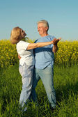 Mature people on the nature — Stock Photo