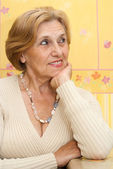 Cute elderly woman — Stock Photo