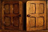 Nice wooden door — Stock Photo