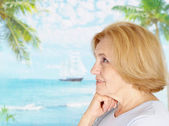 Nice woman at the resort — Stock Photo