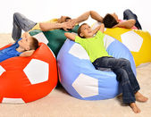 Happy family resting — Stock Photo