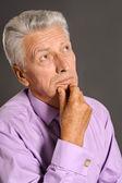 Starší muž portrét — Stock fotografie