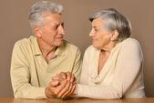 Happy older couple — Stock Photo