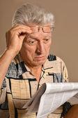 Surprised elderly man — Stock Photo