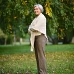 Senior lady on nature — Stock Photo