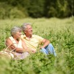 Senior couple in park — Stock Photo #31622111