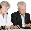 Elderly business couple — Stock Photo