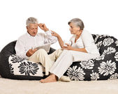 Senior couple at home — Stock Photo