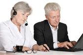 Elderly business couple — Stock Photo