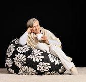 Smiling elderly lady — Stock Photo
