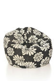 Black and white cushion armchair — Stock Photo