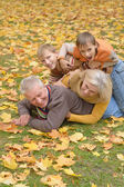 Cute family lying — Stock Photo