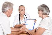 Visitar o médico de pacientes — Foto Stock