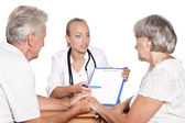 Pacientes visiten médico — Foto de Stock