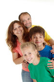 Great family of four — Stock Photo