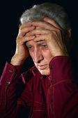 Uomo anziano triste — Foto Stock