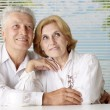 Stock Photo: Beautiful old people at resort