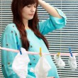 Nice pregnant woman clothes — 图库照片