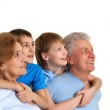 Interesting family having a good leisure time — Stock Photo