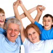 Stock Photo: Sympothetic family having a good leisure time