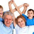 Sympothetic family having a good leisure time — Stock Photo