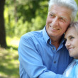 Beautiful elderly couple posing — Stock Photo